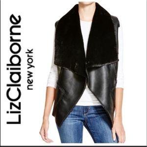 Liz Claiborne faux leather vest
